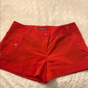 Express red shorts